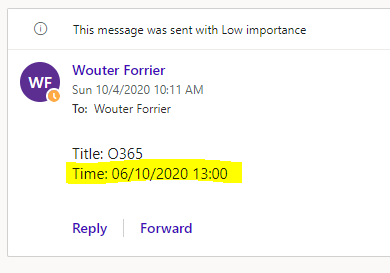 power automates sharepoint time not correct